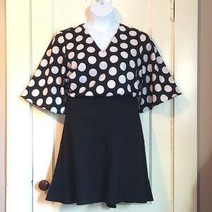 Ann Taylor outlet polka dot bell sleeve top